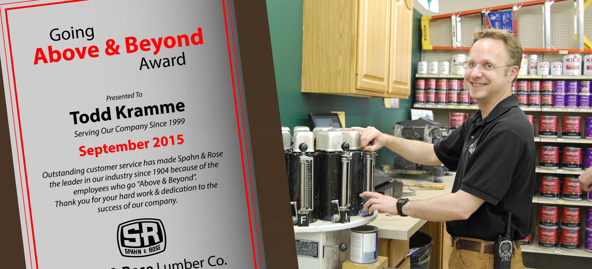 Todd Above and Beyond Award Decorah