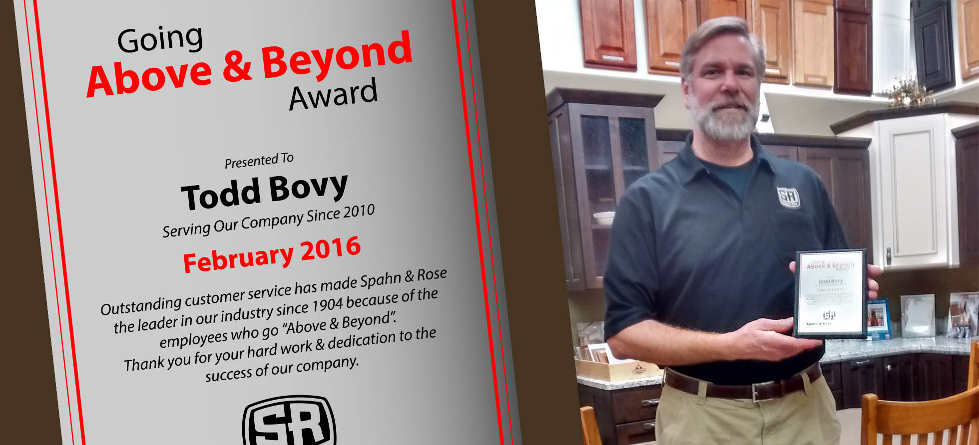 Todd Above and Beyond Award-West Union